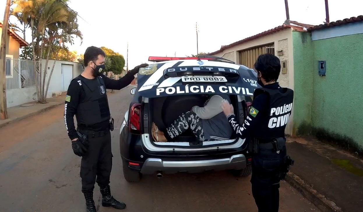 Polícia prende criminosos que dominavam o tráfico de drogas em Goianira