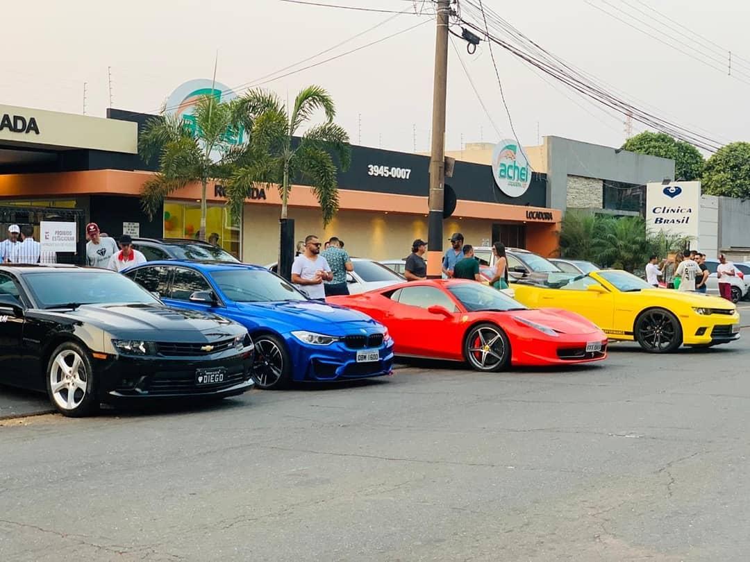 Encontro de apreciadores de carros esportivos movimenta Anápolis neste sábado