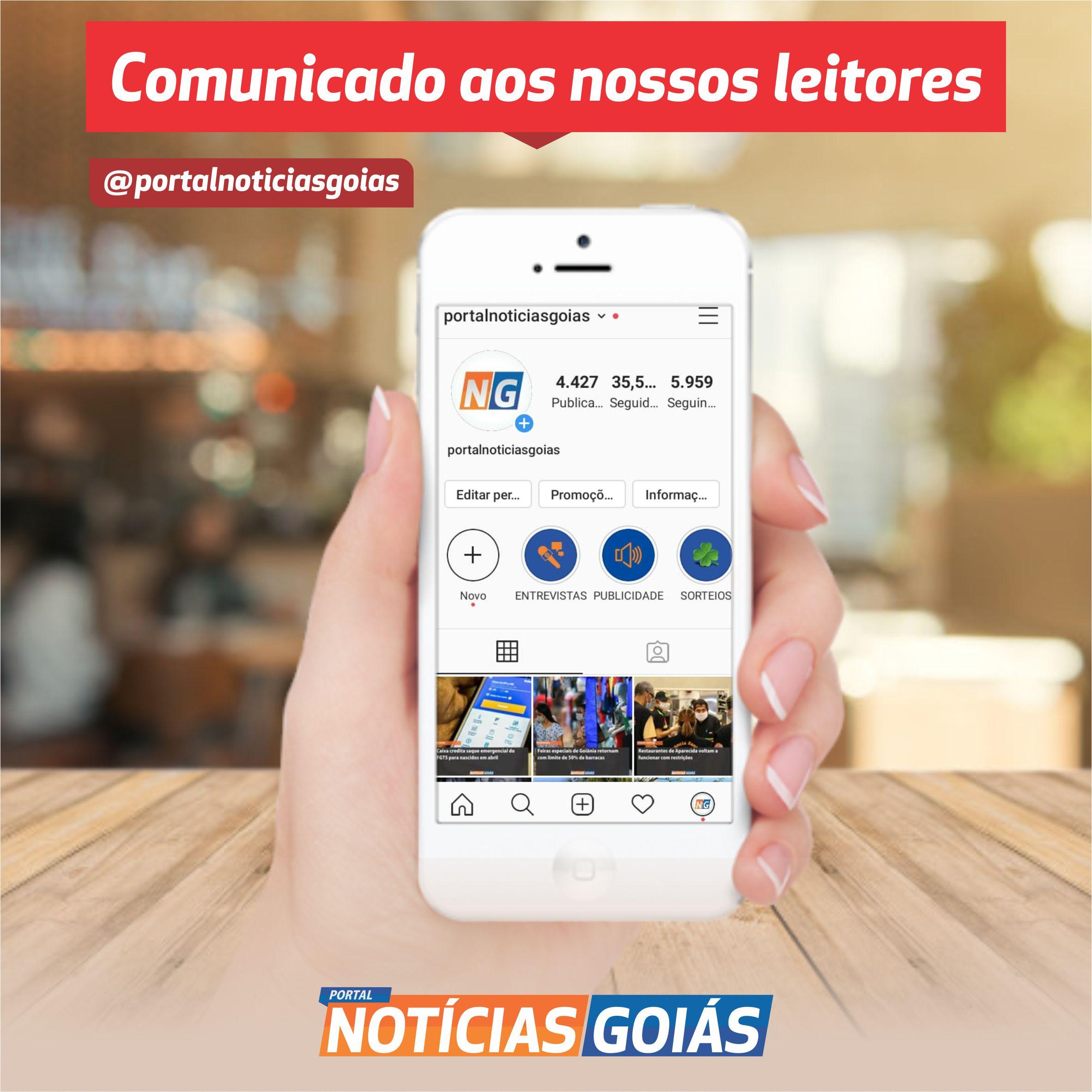 PORTAL NOTÍCIAS GOIÁS recupera sua conta do Instagram
