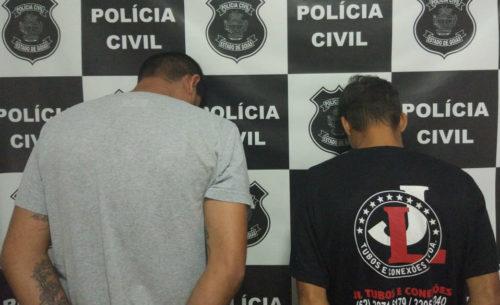 Pol�cia Civil prende dois por crimes contra mulher em Goianira