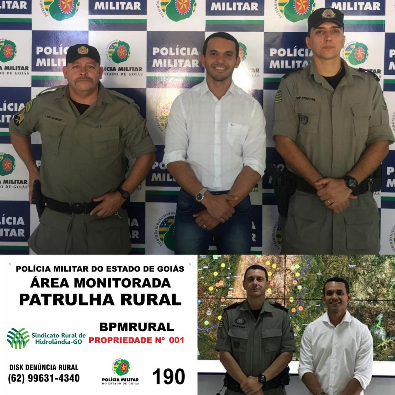 Pol�cia Militar come�a implantar a Patrulha Rural Georreferenciada no Munic�pio de Hidrol�ndia