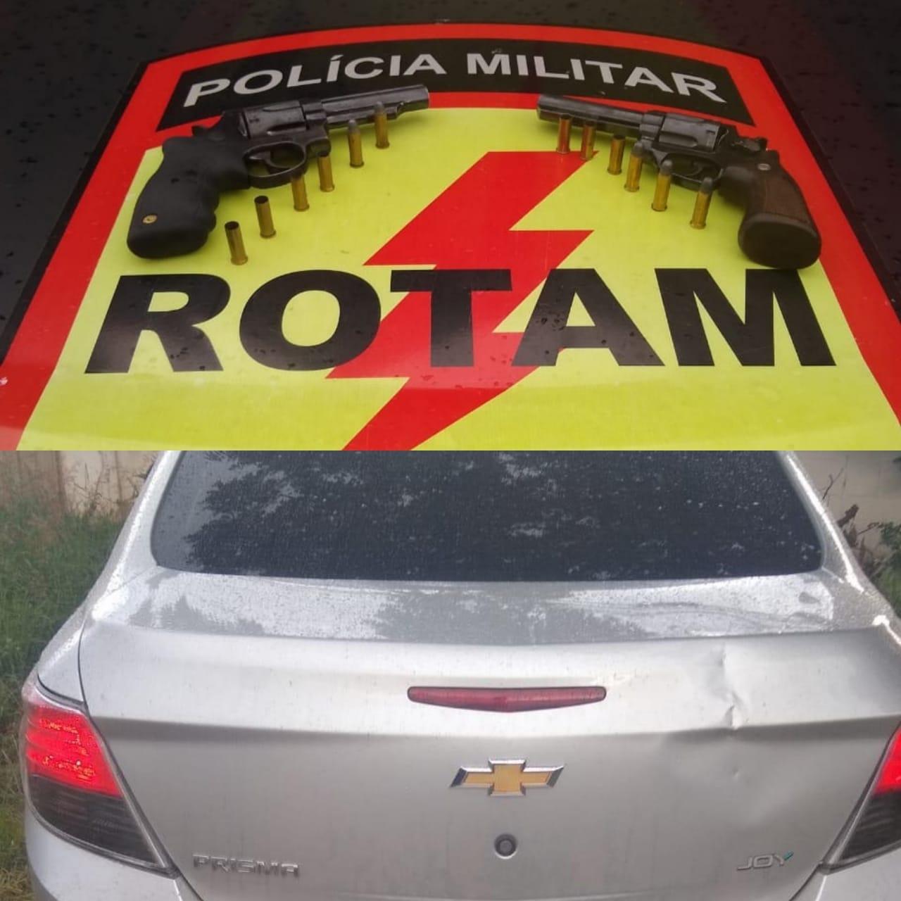 Equipes de ROTAM recupera caminh�o roubado com ref�m em Hidrol�ndia