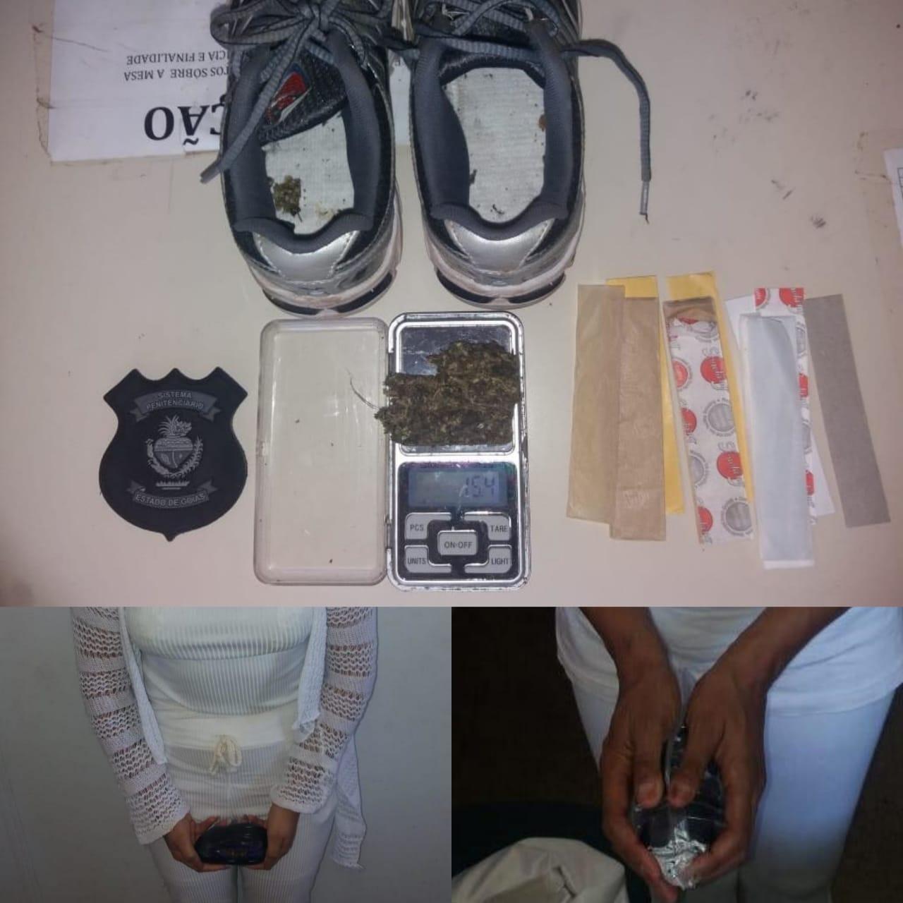 Três mães de presos são flagradas tentando entrar com droga na CPP em Aparecida de Goiânia