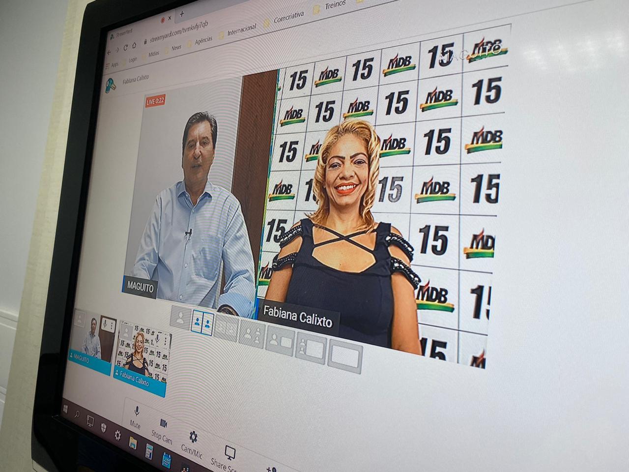 Com foco na campanha digital, Maguito grava vídeos com candidatos a vereador