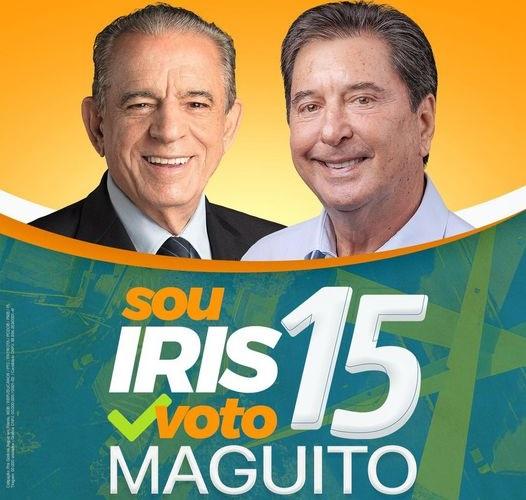 Campanha do MDB cola nome de Maguito à imagem de Iris