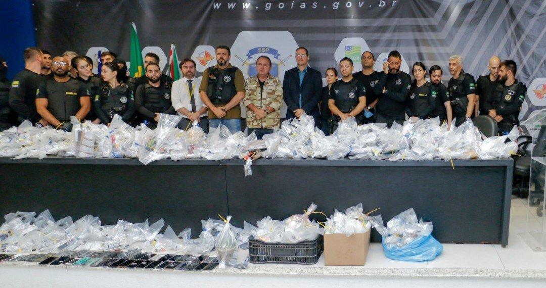 Segurança faz maior varredura já realizada na Penitenciária Odenir Guimarães
