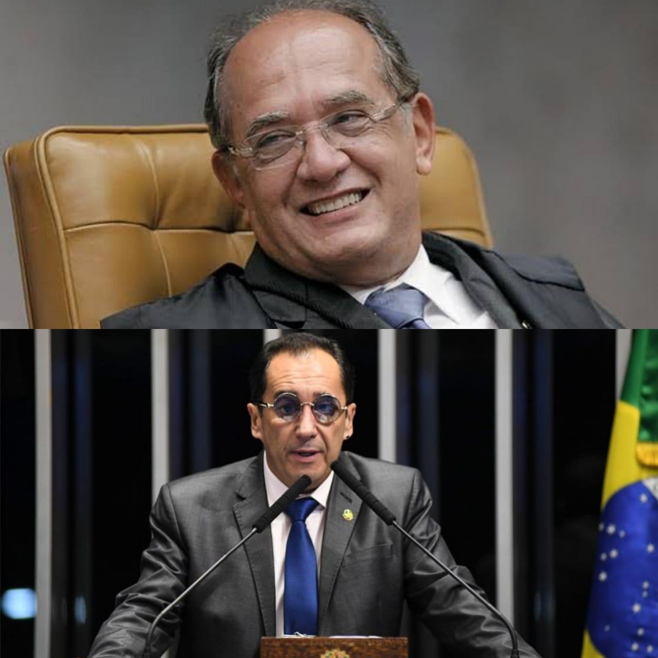 Senador Jorge Kajuru xinga ministro Gilmar Mendes durante entrevista