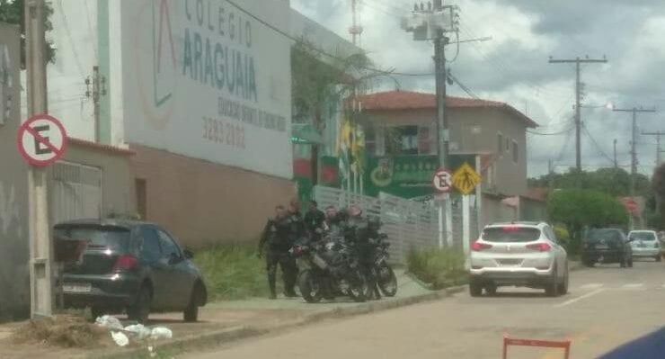 Crian�a � baleada por motoqueiro pr�ximo a escola em Aparecida de Goi�nia