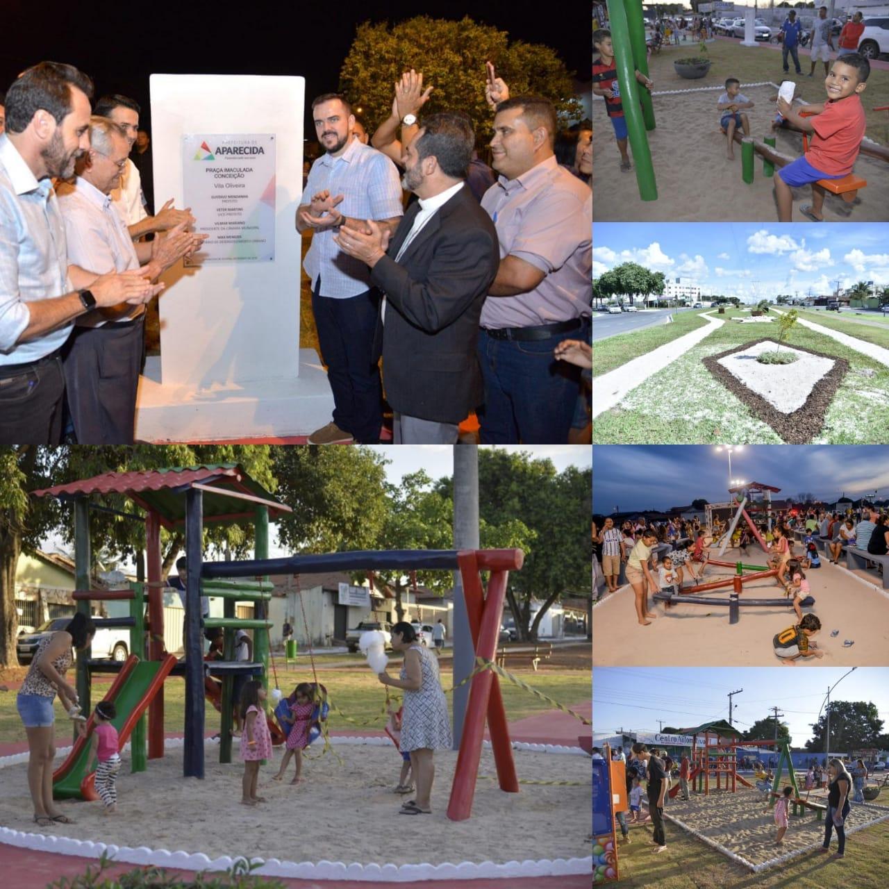 Praças levam beleza e saúde aos bairros de Aparecida de Goiânia