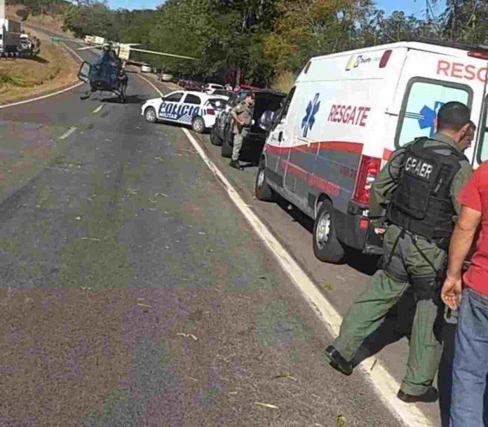 Acidente com viatura da Rotam deixa quatro PMs feridos