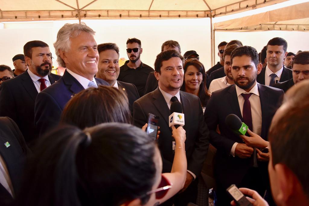 Ministro S�rgio Moro destaca que �o governo de Ronaldo Caiado est� na dire��o certa�