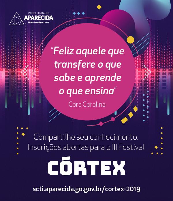 3º Festival Córtex de Aparecida abre inscrições para fomentar cultura digital