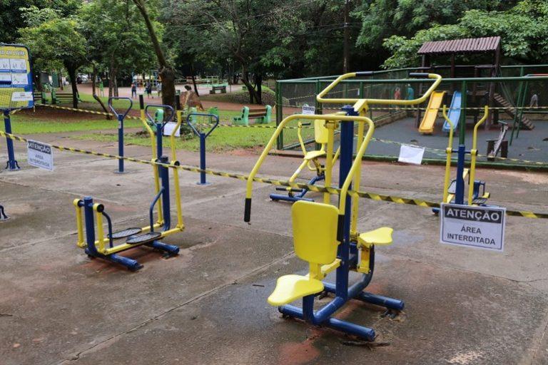 Prefeitura interdita academias ao ar livre nos parques