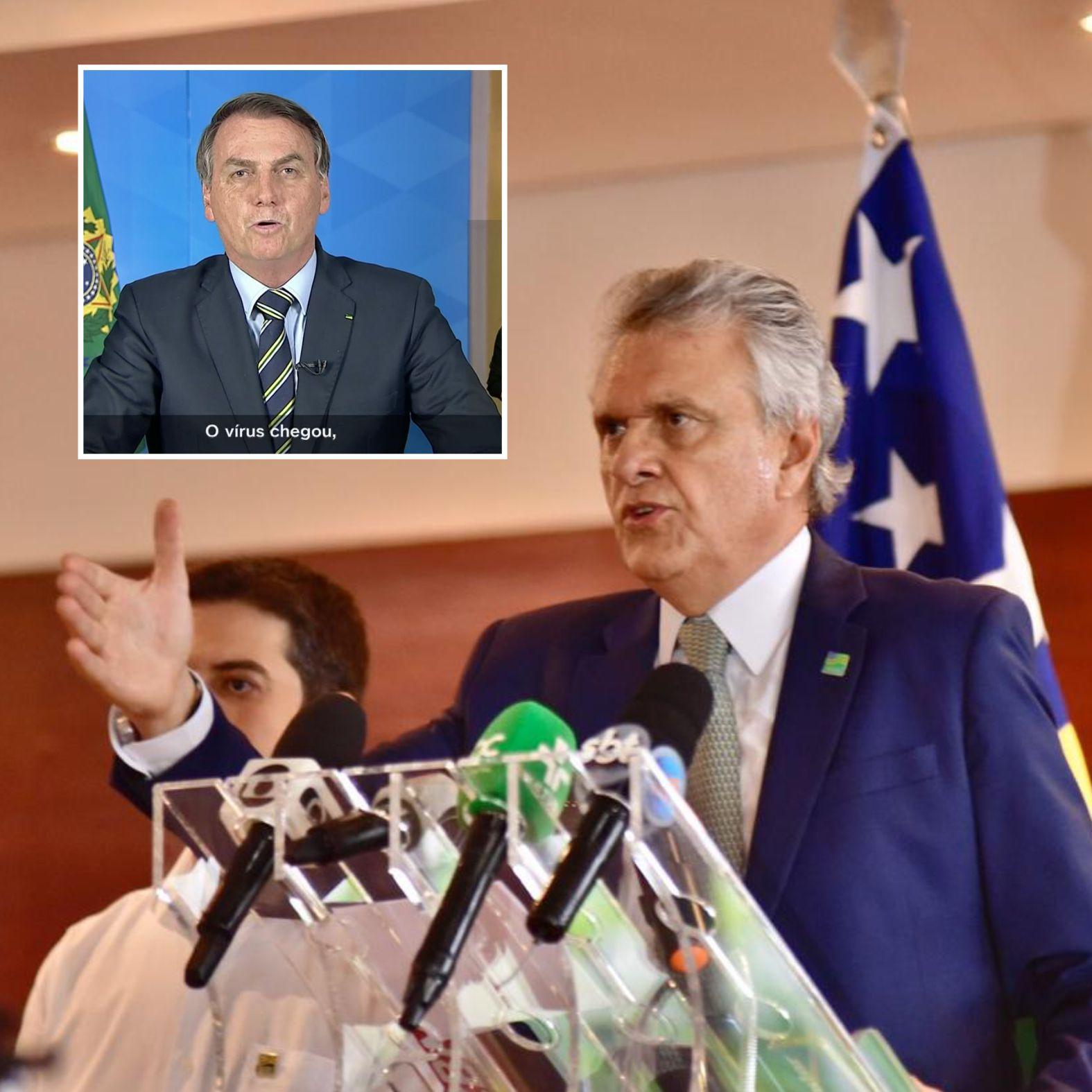 Após pronunciamento, Caiado afasta-se de Bolsonaro