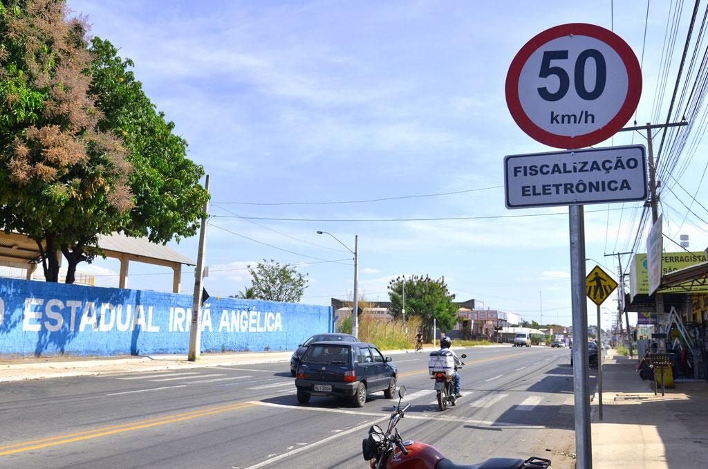 Avenida Independência em Aparecida terá limite de 50km/h e fiscalização eletrônica