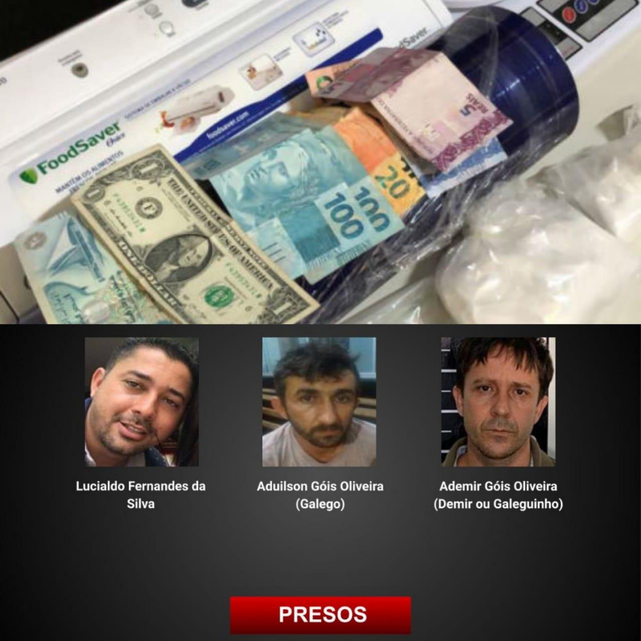 Preso em Goi�s trio suspeito de fornecer armas e drogas para Sergipe
