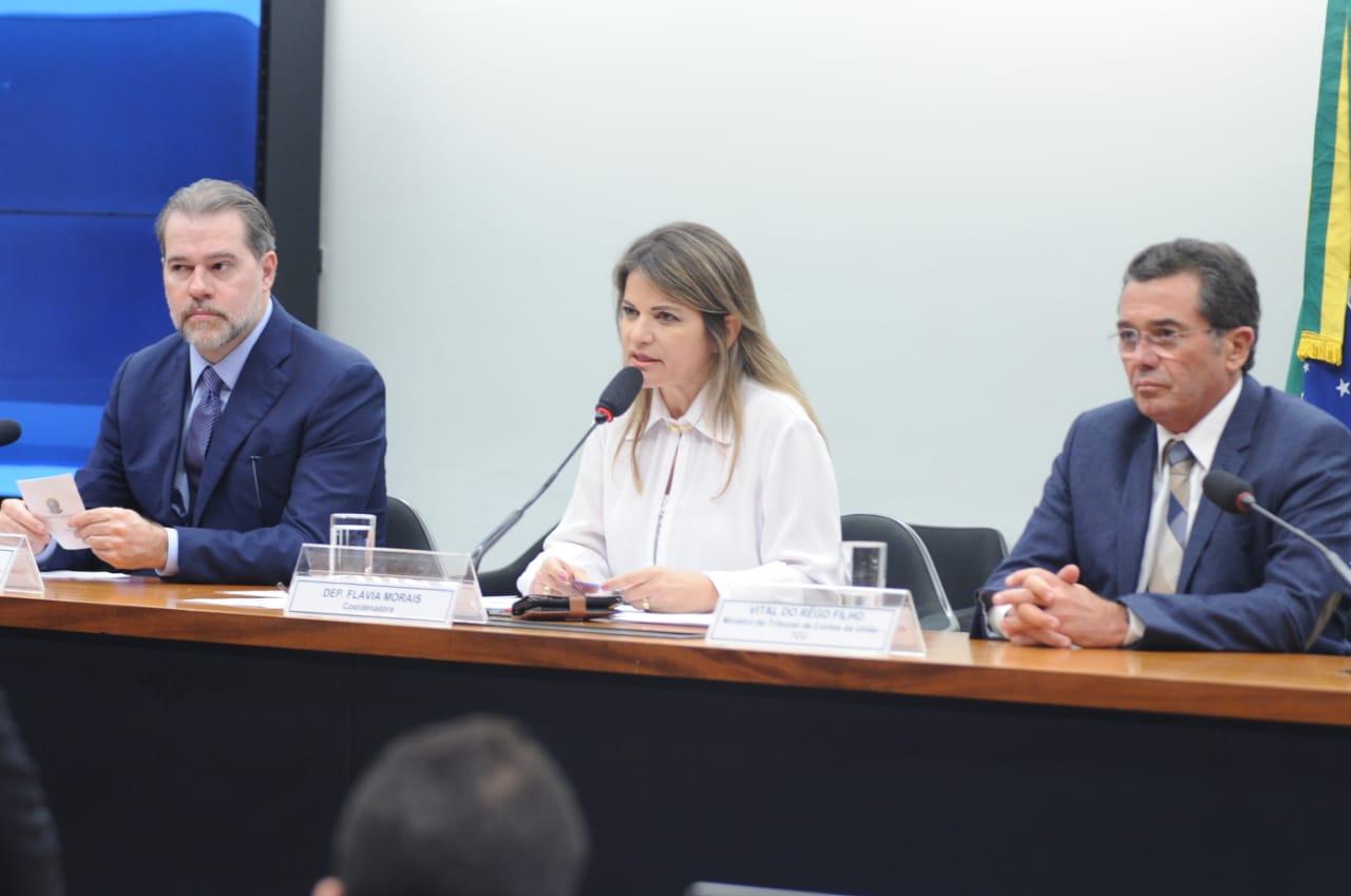 Deputada Fl�via Morais articula e cria Frente Parlamentar para investigar obras paradas