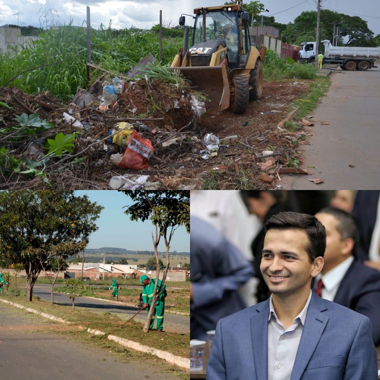 Prefeitura de Aparecida de Goi�nia intensifica ro�agem e limpeza de mais de 80 mil lotes baldios